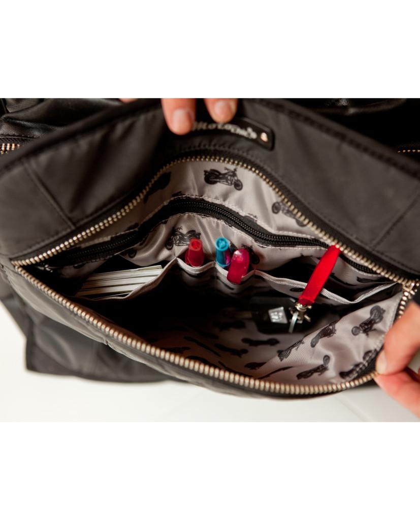 Lauren:Black bag inside pocket