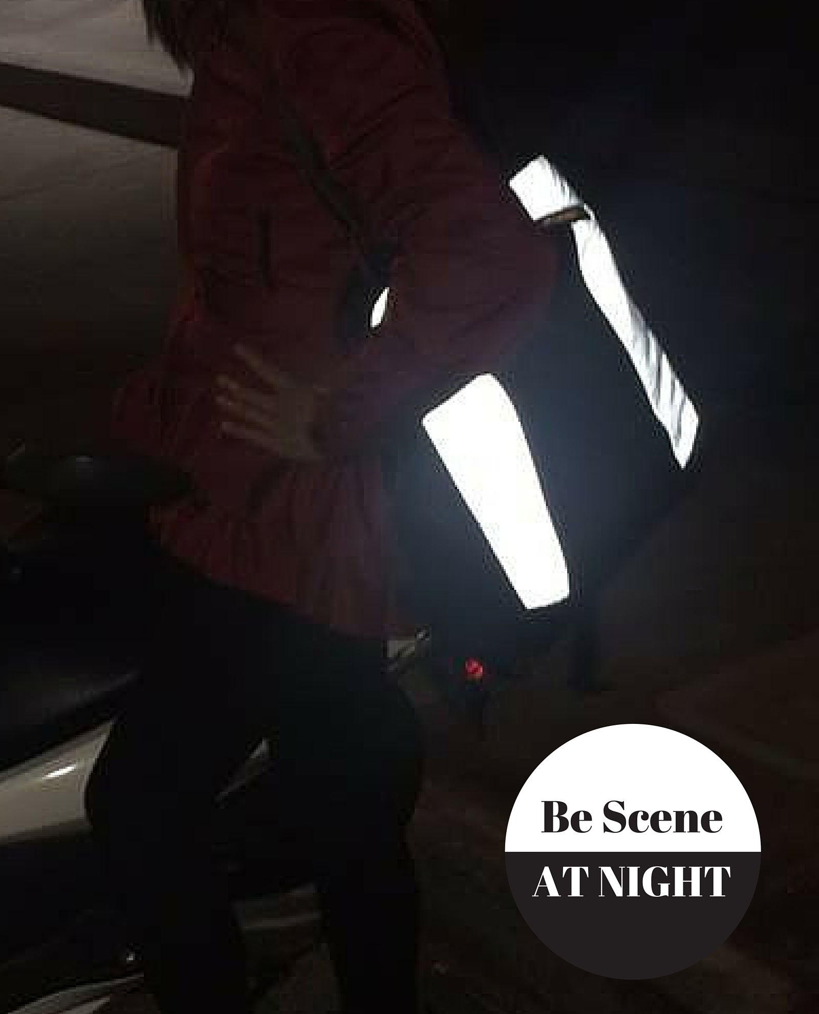 lauren convertible backpack reflective tote bag night
