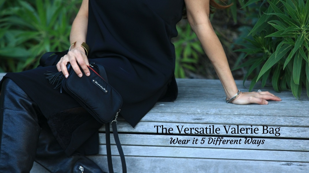 fanny pack waist bag versatile valerie small purse black