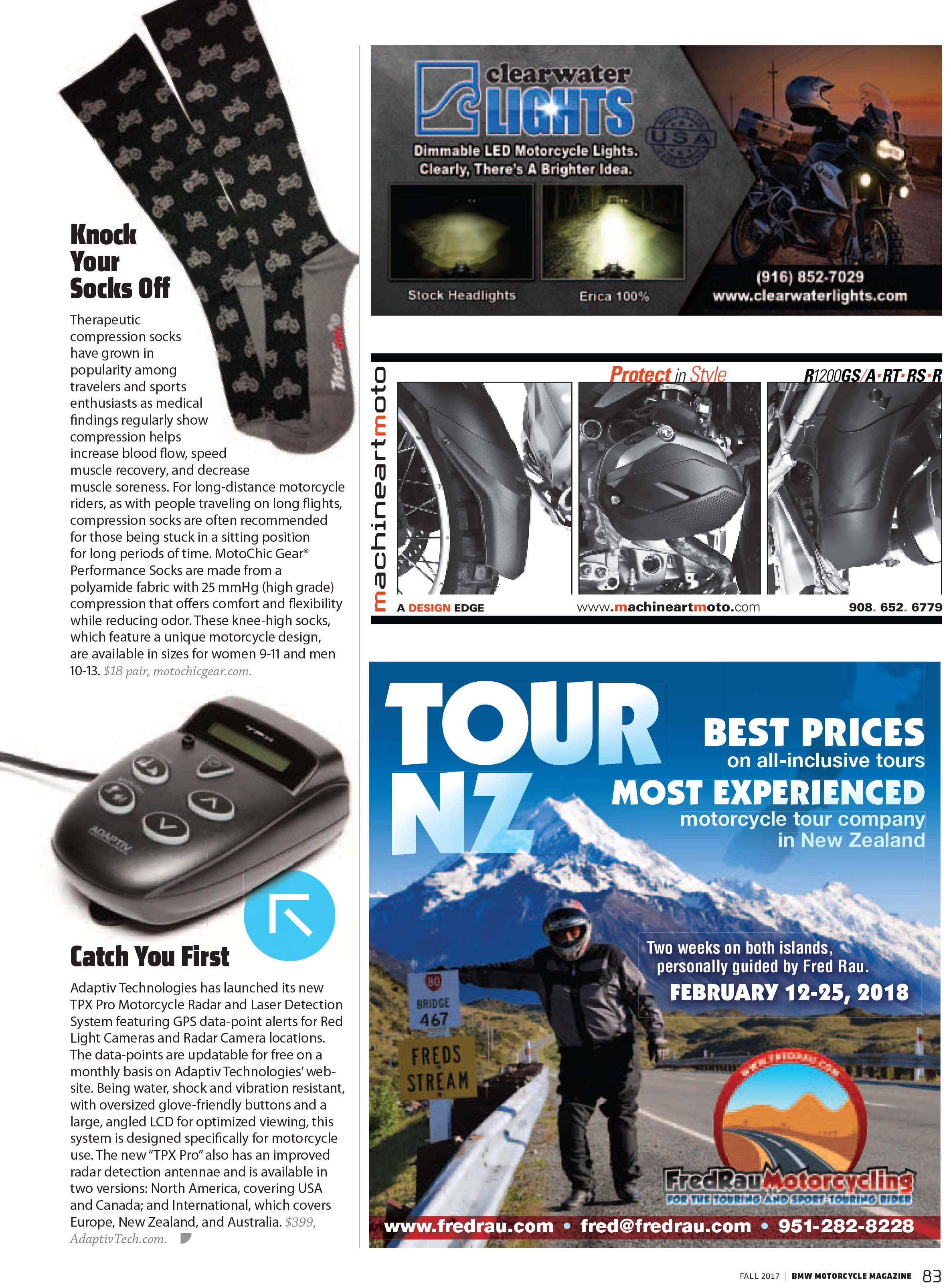 Fall 2017 - BMW Motorcycle Mag - Knock Your Socks Off