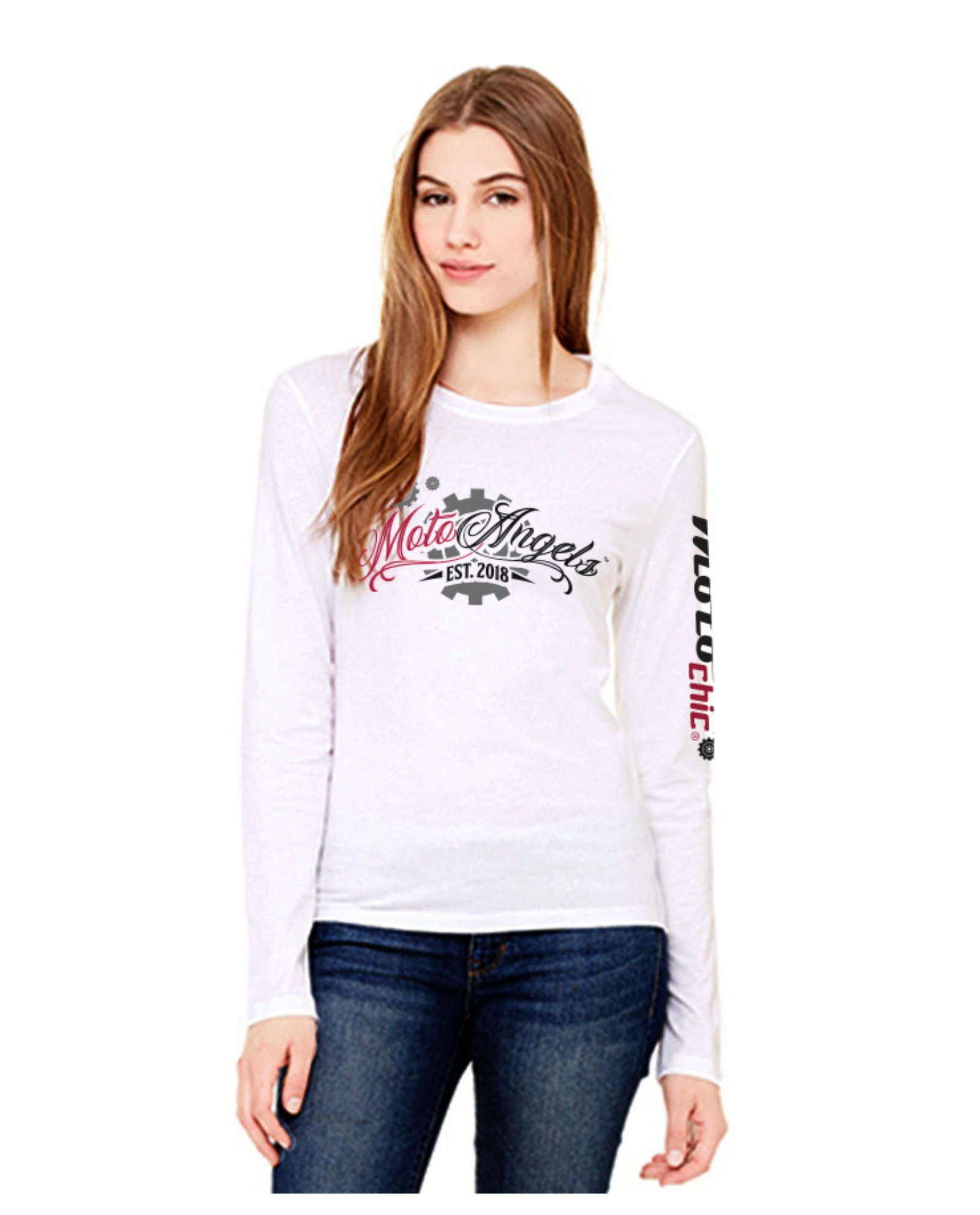 c8a381b55811ed MotoAngels™ Ladies Antimicrobial Long Sleeve Tee - MotoChic®