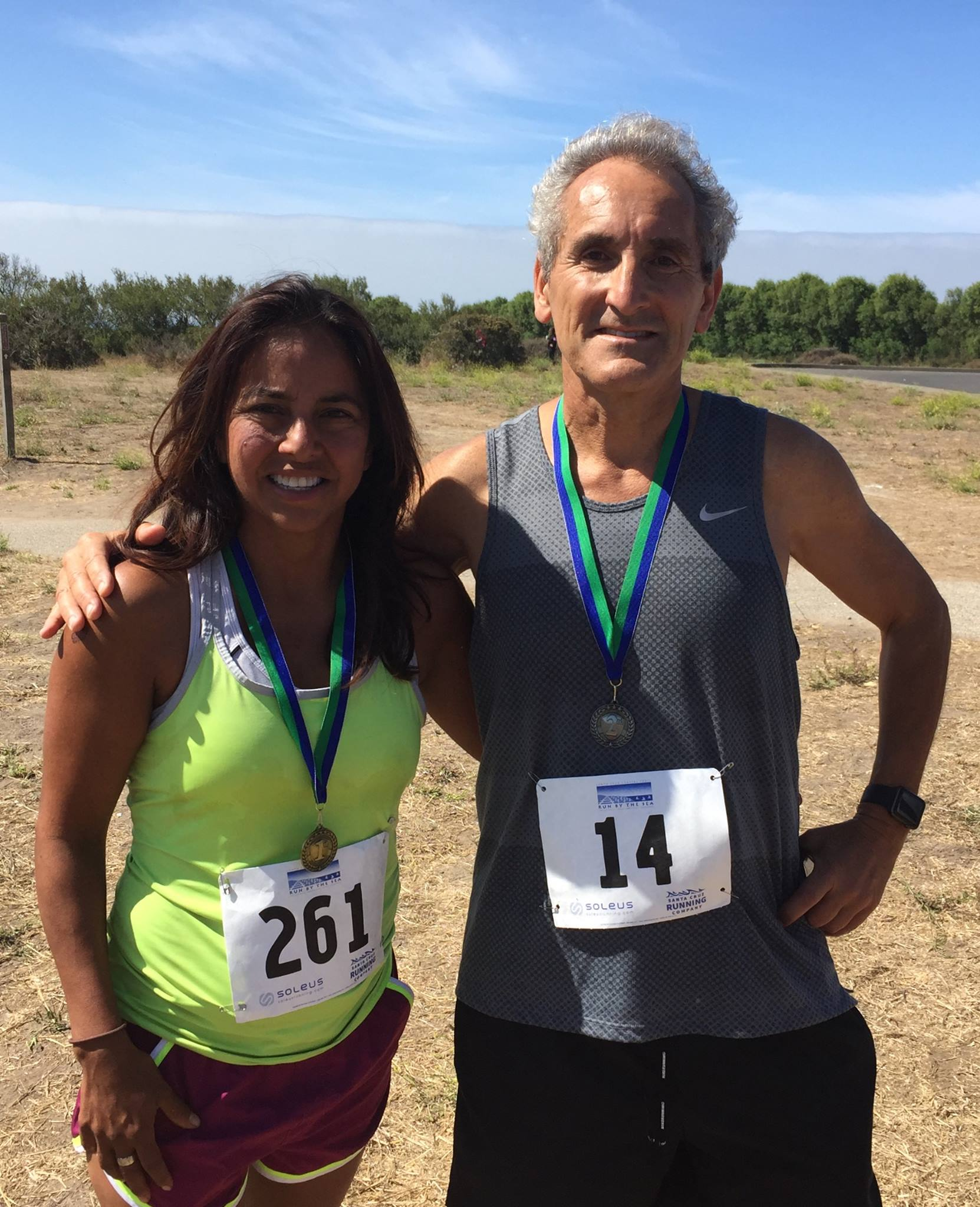 Connie & Friend Race by the Sea 12K Santa Cruz