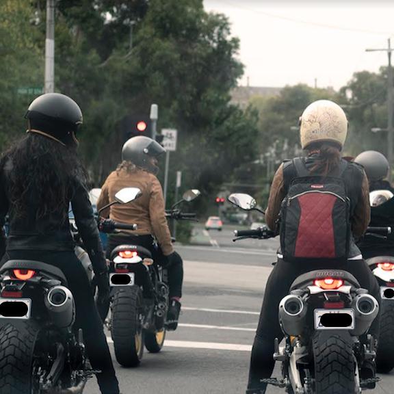 Kate on Ducati