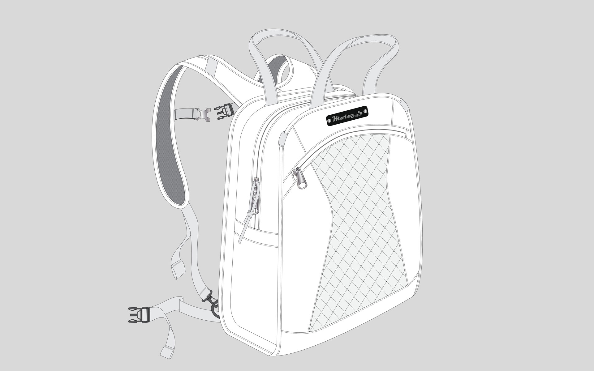 Diagram of the Lauren bag