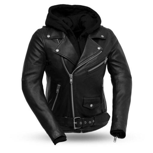 Ryman Women's Leather Motorcycle Jacket